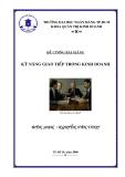 Đề cương bài giảng: Kỹ năng giao tiếp hiệu quản trong kinh doanh
