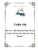 """Báo cáo:  """" Biện Pháp Huy Động Vốn Tại Công Ty Chế Tạo Máy  Điện Việt  Nam-Hungari"""""""