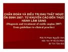 Chẩn đoán và điều trị đau thắt ngực ổn định 2007: Từ khuyến cáo đến thực hành lâm sàng