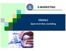 Bài giảng thương mại điện tử - Chương 3: Quản trị tri thức marketing
