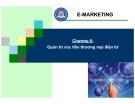 Bài giảng thương mại điện tử - Chương 6: Quản trị xúc tiến thương mại điện tử