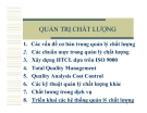 Giáo trình Quản trị chất lượng_ Chương 8