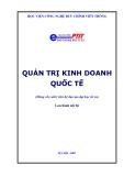 Quản trị kinh doanh quốc tế - TS.Hà Văn Hội