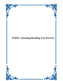 TOEIC Listening Reading Test Preview