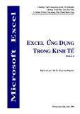 Excel ứng dụng trong kinh tế ( Phần 2 )