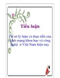 Tiểu luận:  Cơ sở lý luận và thực tiễn của cách mạng khoa học và công nghệ  ở Việt Nam hiện nay