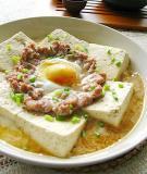 Đậu phụ hấp trứng thịt