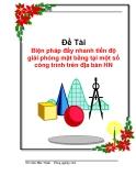 Chuyên đề tốt nghiệp: Biện pháp đẩy nhanh tiến độ giải phóng mặt bằng tại một số công trình trên địa bàn Hà Nội tại công ty phát triển nhà số 2