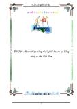 Luận văn tốt nghiệp: Hoàn thiện công tác lập kế hoạch tại Tổng công ty chè Việt Nam