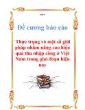 Đề cương báo cáo: Thực trạng và một số giải pháp nhằm nâng cao hiệu quả thu nhập công ở Việt Nam trong giai đoạn hiện nay