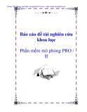 Báo cáo đề tài nghiên cứu khoa học: Phần mềm mô phỏng PRO / II