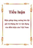 Tiểu luận: Biện pháp tăng cường bóc lột giá trị thặng dư và vận dụng vào điều kiện của Việt Nam