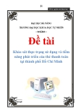 Đề tài: Khảo sát thực trạng sử dụng và tiềm năng phát triển của thẻ thanh toán tại thành phố Hồ Chí Minh