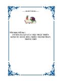 Tiểu luận triết học - CƠ SỞ LÍ LUẬN CỦA VIỆC PHÁT TRIỂN KINH TẾ  HÀNG HÓA NHIỀU THÀNH PHẦN TRONG THỜ