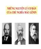 Hệ thống câu hỏi học phần: Những nguyên lý cơ bản của Chủ nghĩa Mác - Lênin