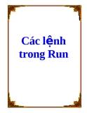Các lệnh trong Run