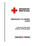 EMERGENCY PLANNING GUIDE  FOR FACILITIES WITH SPECIAL POPULATIONS