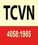 Tiêu chuẩn Việt Nam TCVN 4058:1985