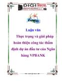 Luận văn: Giải pháp mở rộng thị phần thanh toán hàng xuất khẩu của Ngân hàng công thương Việt Nam trong bối cảnh gia nhập WTO