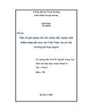 Báo cáo tốt nghiệp: Xuất khẩu hàng dệt may VN vào các thị trường phi hạn ngạch