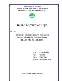 Luận văn: Đánh giá tình hình hoạt động của trung tâm phát triển quỹ đất thành phố Hồ Chí Minh