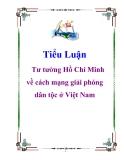 Tiểu luận: Quá trình hình thành và phát triển tư tưởng Hồ Chí Minh