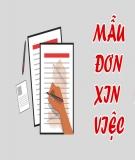 Tổng hợp mẫu đơn xin việc bằng Tiếng Việt theo từng ngành nghề