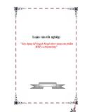 Luận văn tốt nghiệp: Xây dựng kế hoạch Road show tung sản phẩm MEP ra thị trường