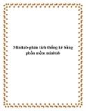 Minitab-phân tích thống kê bằng phần mềm minitab