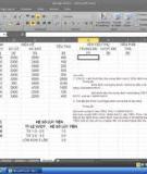 Bài tập môn Excel
