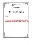 Báo cáo tốt nghiệp: Thực trạng trọng tài thương mại và nội dung của pháp lệnh trọng tài thương mại 2003 ở Việt Nam