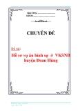 Chuyên đề: Hồ sơ vụ án hình sự  ở  VKSND huyện Đoan Hùng