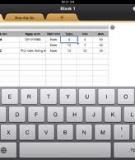 Sử dụng thanh công cụ của Excel