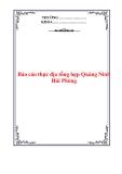 Báo cáo thực địa Quảng Ninh- Hải Phòng