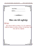 LUẬN VĂN :KẾ TÓAN TIỀN LƯƠNG VÀ CÁC KHOẢN TRÍCH THEO LƯƠNG CÔNG TY ĐO ĐẠC DV-TM- HƯNG THỊNH
