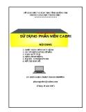 Tài liệu hướng dẫn sử dụng phần mềm CABRI