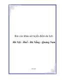 Báo cáo khảo sát tuyến điểm du lịch Hà Nội - Huế - Đà Nẵng - Quảng Nam