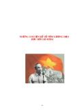 Những chuyện kể về tấm gương đạo đức Hồ Chí Minh