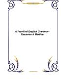 Tài liệu về A Practical English Grammar - Thomson & Martinet