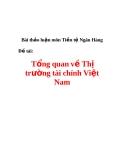 Bài thảo luận môn Tiền tệ Ngân Hàng Đề tài: Tổng quan về Thị trường tài chính Việt Nam