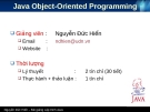 Chương 3: Lập trình hướng đối tượng Java