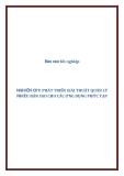 Báo cáo tốt nghiệp: NGHIÊN CỨU PHÁT TRIỂN GIẢI THUẬT QUẢN LÝ NHIỀU BẢN SAO CHO CÁC ỨNG DỤNG PHỨC TẠP