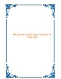 Ôn tập môn Lý luận chung Nhà nước và Pháp luật - ThS. Nguyễn Minh Tuấn