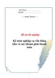 Đồ án tốt nghiệp: Kế toán nghiệp vụ vốn bằng tiền và các khoản phải thanh toán tại Công ty Mặt Trời Việt