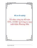 """Đồ án tốt nghiệp """"Tổ chức công tác kế toán NVL, CCDC tại Công ty may xuất khẩu Phương Mai"""""""