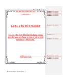 Báo cáo tốt nghiệp về 'Tổ chức kế toán bán hàng và xác định kết quả bán hàng ở công ty vật tư thiết bị toàn bộ - MaTexim'