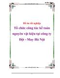 Đồ án tốt nghiệp Tổ chức công tác kế toán nguyên vật kiệu tại công ty Dệt - May Hà Nội