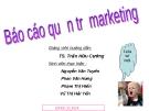 Báo cáo Quản trị Marketing