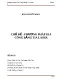 """Bài thuyết trình """"Phương pháp gia công bằng tia laser"""""""