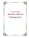 Đồ án tốt nghiệp Khai thác và làm chủ Exchange Server